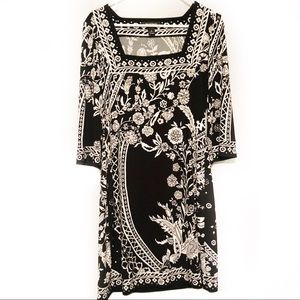 White House Black Market Floral midi dress